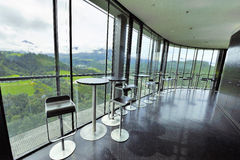 Café en la colina de Bergisel Imágenes de archivo libres de regalías