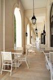 Café en la costa en Oporto Foto de archivo