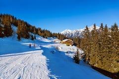 Café en la estación de esquí mún Gastein - Austria de las montañas Fotos de archivo libres de regalías