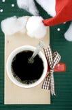 Café en la estación de la Navidad Imagenes de archivo