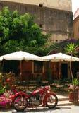 Café en la isla de Corfú Imagen de archivo libre de regalías