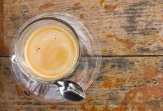 Café en la madera Fotografía de archivo