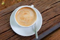 Café en la madera Imagen de archivo