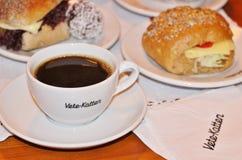 Café en la pastelería Vete-Katten Foto de archivo