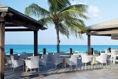 Café en la playa. fotos de archivo libres de regalías