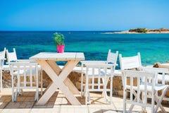 Café en la playa y el club del salto Foto de archivo libre de regalías