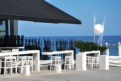 Café en la playa y el club del salto Imágenes de archivo libres de regalías