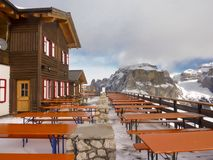 Café en las montañas Imagen de archivo libre de regalías