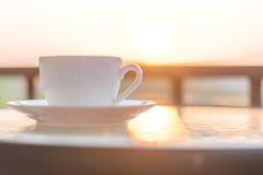 Café en matin Images libres de droits