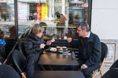 Café en París Foto de archivo libre de regalías