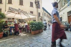 Café en plaza Imagen de archivo libre de regalías
