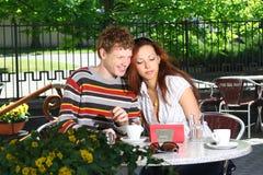 Café en plein air Photo libre de droits