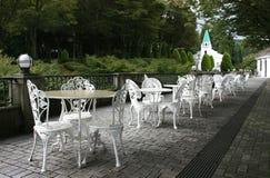 Café en plein air images libres de droits