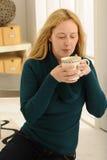 Café en sala de estar Fotos de archivo libres de regalías