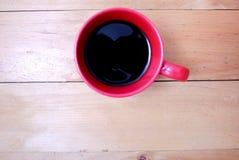 Café en taza roja Imagen de archivo libre de regalías