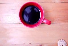 Café en taza roja Fotografía de archivo libre de regalías
