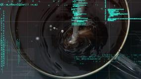 Café en una taza y códigos digitales almacen de video