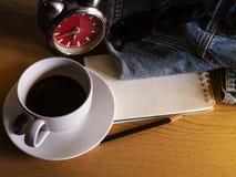 Café en vacances avec mes jeans, photographie stock