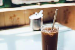 Café en vieux café de Hong Kong Photo stock