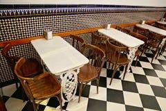Café espagnol typique à Valence Photographie stock libre de droits