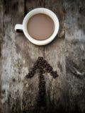 Café esta manera Fotos de archivo libres de regalías