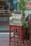 Café estival dans la vieille ville photographie stock libre de droits