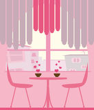 Café et amour Photographie stock