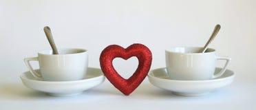 Café et amour Images stock