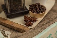 Café et anis Images stock