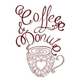 Café et beignet Image stock