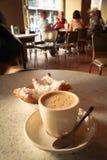 Café et beignets de Beignet Photographie stock