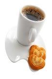 Café et biscuits photos stock