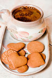 Café et biscuits Photographie stock