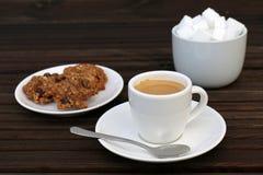 Café et biscuits Photo stock