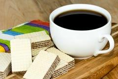 Café et biscuits Images stock