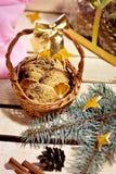 Café et biscuits Décoration de Noël Photographie stock libre de droits