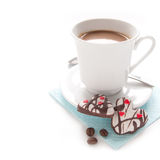 Café et biscuits de matin Photos stock