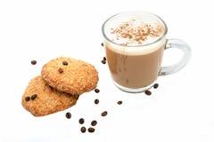 Café et biscuits faits maison Photos stock