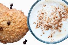 Café et biscuits faits maison Image libre de droits
