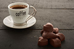 Café et bonbons Photo libre de droits