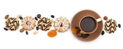 Café et bonbons colorés Image libre de droits