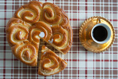 Café et brioche Image libre de droits