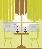 Café et café illustration de vecteur