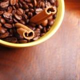 Café et cannelle photographie stock