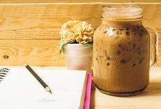 Café et carnet de glace Images libres de droits