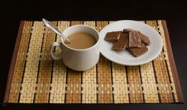 Café et chocolat de matin image libre de droits