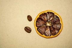 Café et citron, se réunissant photo stock