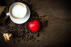 Café et coeur de tasse Photo libre de droits