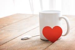 Café et coeur rouge Images libres de droits