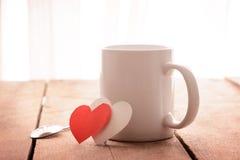 Café et coeur rouge Photos libres de droits